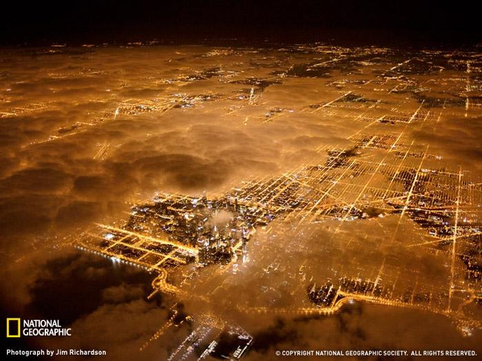 Красивые фотографии - Огни города Чикаго