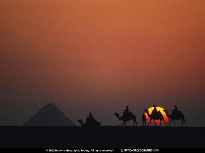 Красивые фотографии природы - Закат в пустыне