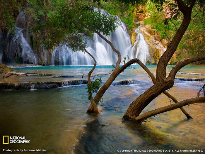 Красивые фотографии природы - Водопад в штате Аризона, США
