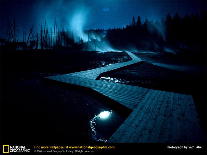 Красивые фотографии природы - Бассейн гейзеров Норрис, штат Вайоминг
