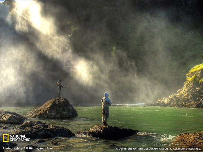 Красивые фотографии природы - Водопад Snoqualmie Falls